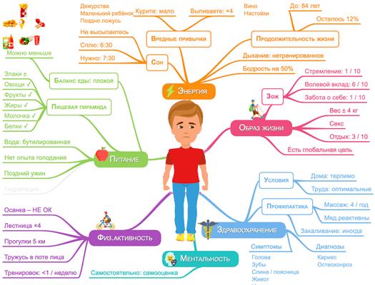 Интеллект-карта сферы жизни здоровья