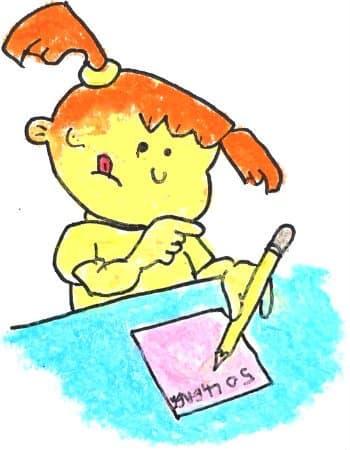 Запись 100 желаний и целей в жизни. Девочка составляет список желаний.