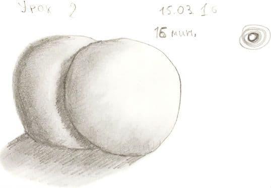 Как научиться рисовать карандашом урок 2. 2 шара с тенью