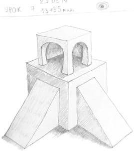 Как научиться рисовать карандашом урок 7. Куб – продвинутый этап
