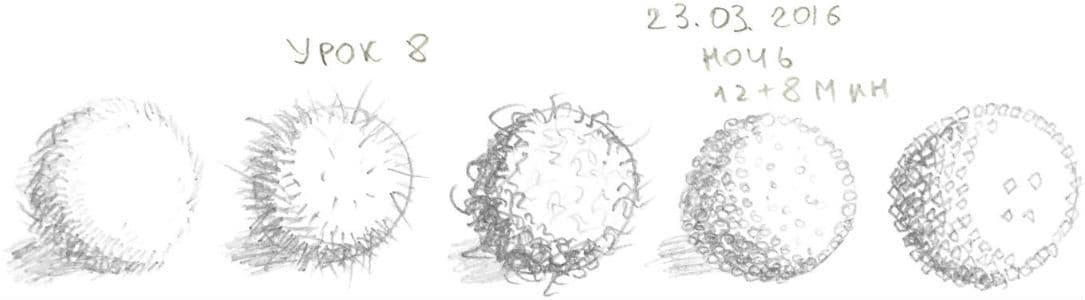 Как научиться рисовать карандашом урок 8. Текстура шара