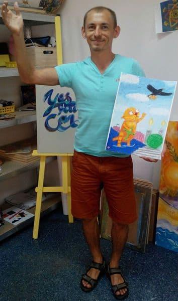 Пастель. Как научиться рисовать пастелью. Ложкин. Мой папа – лётчик. Днепр
