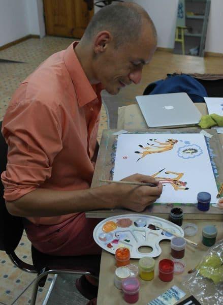 Гуашь. Как научиться рисовать гуашью. Мультяшка