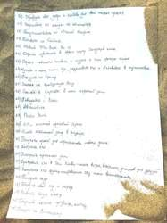 List of Alexandra's 100 wishes. Sheet 2